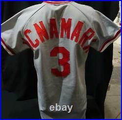 John McNamara Cincinnati Reds Game Used Jersey