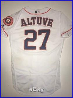 Jose Altuve Houston Astros Game Used Jersey 2017 World Series Season
