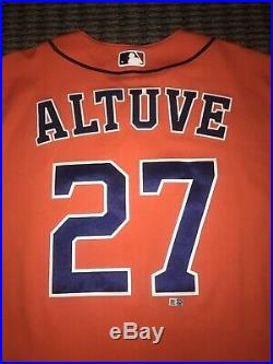 Jose Altuve Houston Astros Game Used Worn Jersey 2 HRs 2016 MLB Authenticated