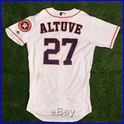 Jose Altuve Houston Astros Game Used Worn Jersey 2017 AL MVP WS Season MLB Auth