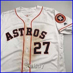 Jose Altuve Houston Astros Game Used Worn Jersey 45th Career HR 4-4 Game 2016