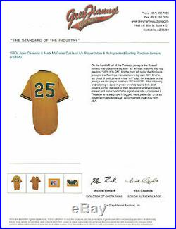 Jose Canseco MID 80's Signed Rookie Year Oakland A's Game Used Jersey Jsa Loa