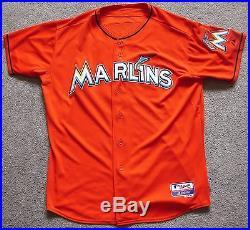 Jose Fernandez Rc. Signed Game Used Jersey Marlins, MLB Hologram Authentication