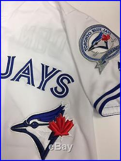 Josh Donaldson Toronto Blue Jays Game Used Jersey Grand Slam MLB Authenticated