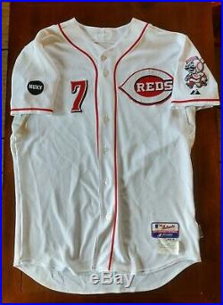 Juan Castro 2008 Game Worn Jersey Cincinnati Reds