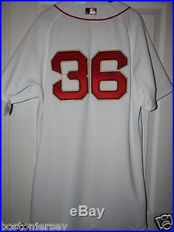 Junichi Tazawa Red Sox RP Game Used World Series Champions Gold Jersey MLB JAPAN