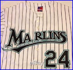 Just Minors COA Florida Marlins Authentic Miguel Cabrera AUTO Autographed Jersey
