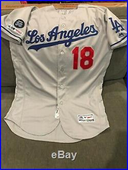 KENTA MAEDA GAME USED WORN DODGERS JERSEY 19 MLB AUTH 2 Games Win NEWK 36 Patch