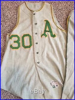 Kansas City Athletics Jim Nash Full Game Used Jersey Uniform Tim McAuliffe Rare