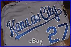 Kansas City KC Royals Game Used Worm Jersey Brayan PENA 2011 Splittorff Patch
