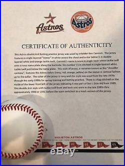 Ken Caminiti Game Used Jersey COA from the Houston Astros