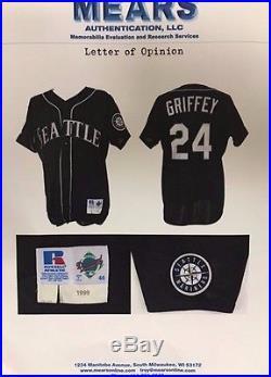 Ken Griffey Jr. 1999 Seattle Mariners Game Used Jersey (MEARS)