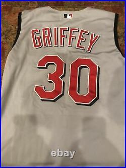 Ken Griffey, Jr. 2001 Game Worn Cincinnati Reds Sleeveless Jersey
