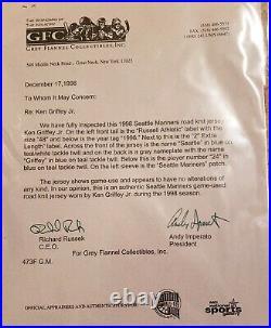 Ken Griffey Jr Game Used Jersey 1998 Seattle Mariners