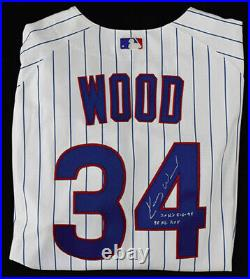 Kerry Wood Game Used Worn Signed Auto 2004 Jersey Chicago Cubs Morandini LOA