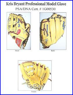 Kris Bryant Chicago Cubs Game Used Fielding Glove Issued In 2015-2016 Psa Loa