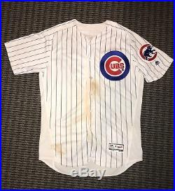Kris Bryant Chicago Cubs Game Used Worn Jersey HR Photo Matched MLB Auth