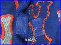LUCAS DUDA size 52 #21 2017 New York Mets game jersey issued road blue MLB HOLO