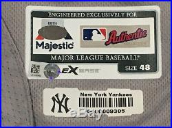 LUIS CESSA #85 size 48 2018 Yankees Game used Jersey ROAD POST SEASON MLB HOLO