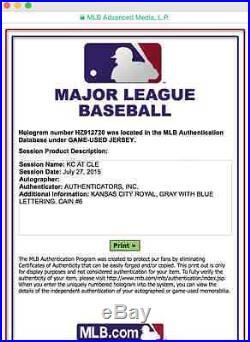 Lorenzo Cain Game Used Jersey, Worn 7/27/15, Royals, World Series Champions