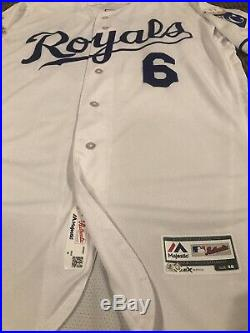 Lorenzo Cain Kansas City Royals Game Used Worn Jersey Brewers MLB Auth WS Patch
