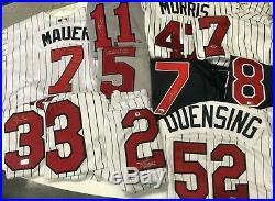 Lot of 22 Minnesota Twins SIGNED Game Worn Team Issued Jerseys Puckett Killebrew