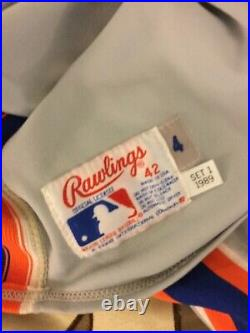 Lou Thornton Game New York Mets 1989 Jersey