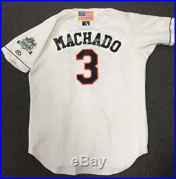 a15adb7d MANNY MACHADO AUTOGRAPHED GAME USED BOWIE BAYSOX SIGNED JERSEY BALTIMORE  ORIOLES
