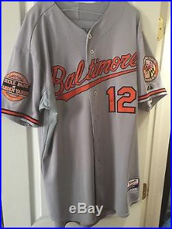 Mark Reynolds Game Used Worn 2012 Baltimore Orioles Jersey