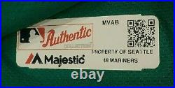 MARTINEZ size 48 #11 2018 Seattle Mariners game used jersey home teal MLB HOLO
