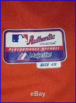 MATT CAIN San Francisco Giants Worn Used Alternate Jersey MLB Holo