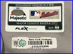 MENDOZA #64 size 44 2018 Yankees Game used Jersey ROAD POST SEASON MLB STEINER