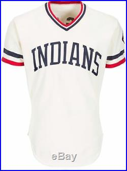 MIKE HARGROVE 1979 CLEVELAND INDIANS GAME USED WORN HOME JERSEY VINATGE With PATCH