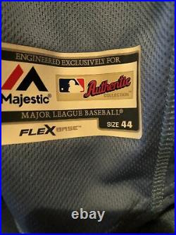 MLB Authentic 2019 Matt Duffy Tampa Bay Rays team issued Majestic jersey size 44