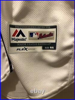 MLB Authentic 2019 Tommy Pham Tampa Bay Rays team issued Majestic jersey size 44