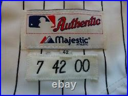 MLB Chicago White Sox #7 Jerry Manuel Signed/Autographed 2000 Game Used Jersey