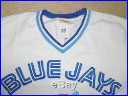 MLB VINTAGE (1988) TORONTO BLUE JAYS FRANK WILLS #44 GAME WORN JERSEY NR