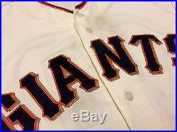 Madison Bumgarner MLB Holo Game Used Jersey 2016 Win Home San Francisco Giants