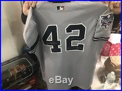 Mariano Rivera World Series Game Used Signed & Inscribed Jersey Steiner COA