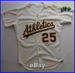 Mark McGwire signed game worn used 1988 Oakland Athletics jersey! Miedema LOA