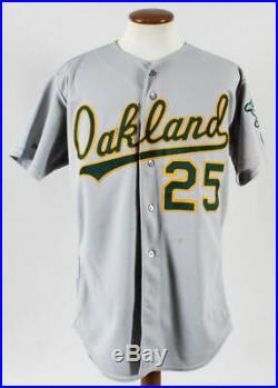 Mark Mcgwire Oakland A's 1989 World Series Season Game Used Rawlings Road Jersey