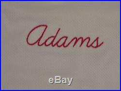 Matt Adams size 46 #32 2016 St. Louis Cardinals Home WHITE game used jersey MLB