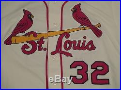 Matt Adams size 46 #32 2017 St. Louis Cardinals Alt Home Ivory game jersey MLB