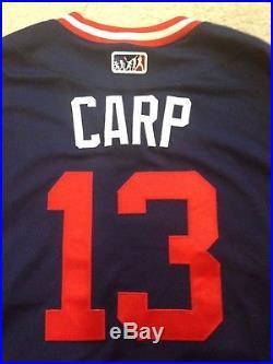 Matt Carpenter Carp Cardinals Game Worn Used Little League Classic Jersey MLBAut