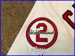 Matt Carpenter MLB Holo Game Used Jersey 2 Home Run 2018 St. Louis Cardinals