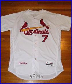 Matt Holliday Game Worn Used 2016 St Louis Cardinals Jersey Mlb Authenticated