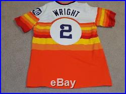 Mel Wright Game Worn Jersey 1975 Houston Astros Cardinals Cubs Don Wilson