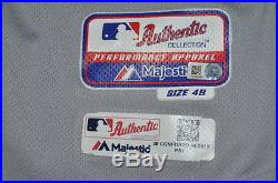 Michael Conforto 2015 NLDS GAME USED Mets Home Run Road Jersey off Greinke