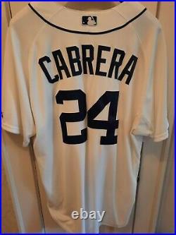 Miguel Cabrera 2012 Triple Crown Season Tigers Home game used jersey RARE