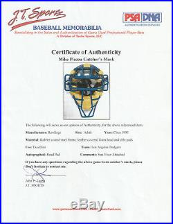Mike Piazza 1996 Signed Game Used Worn Los Angeles Dodgers Catcher's Gear Psa